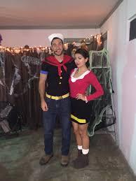 diy olive oyl and popeye costume thanksgiving fall pinterest