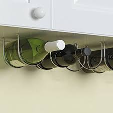 Countertop Organizer Kitchen by Amazon Com Under Cabinet Wine Rack And Liquor Bottle Holder