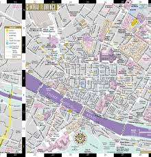 Map Of Central Italy by Streetwise Florence Map Laminated City Center Street Map Of
