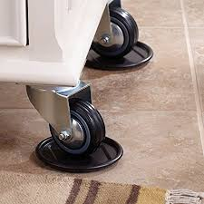 Wheels For Chair Legs Furniture Caster Cups With Carpeted Bottoms For Hard Floor