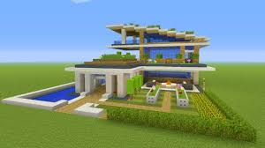 Modern Mansion Minecraft Tutorial How To Make A Modern Eco Mansion