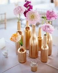 dã co mariage pas cher customiser des bouteilles recyclées pour sa déco de mariage