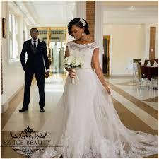wholesale detachable train mermaid african wedding dress white