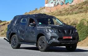 suv nissan 2017 nissan navara suv spotted testing with production body coming in