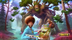 Bob Ross Meme - smite joins the meme war by adding bob ross niche gamer