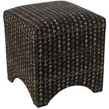 Ottoman Cube Cube Shaped Ottoman With Arrow Stripe Ink Design 8385106 Hsn