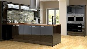 Black Gloss Kitchen Cabinets The Depths Of These Hight Black Gloss Kitchen Units Create A
