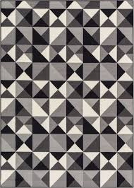 Black And White Modern Rug Casual Geo Grey Black White Geometric Modern Mat Non Slip