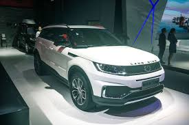 range rover evoque rear range rover evoque copycat landwind x7 updated with new look autocar