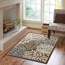 Rv Rugs Walmart by Better Homes And Gardens Mixed Floral Rug Dark Brown Walmart Com