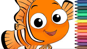 Finding Nemo Coloring Page For Kids Youtube Nemo Color Pages