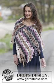 drops design poncho lucille drops 0 1219 free crochet patterns by drops design