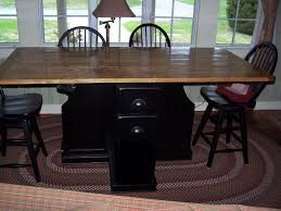 hand made dining table with wine rack by j l ross custom