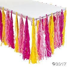 Pink Table Skirt party fringe table skirt