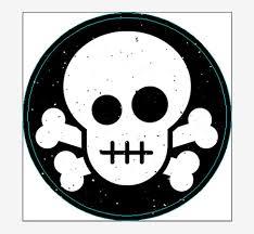 create a skull crossbones sticker design in illustrator