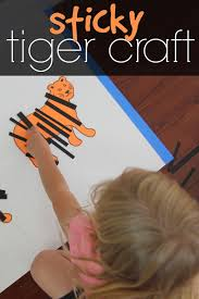 play create explore tiger shaving cream marbling craft i can