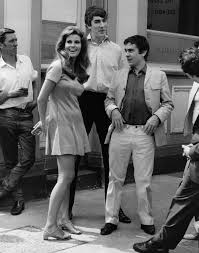 raquel welch peter cook and dudley moore on the set of bedazzled