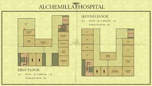 General Hospital Floor Plan Image Map Of Alchemilla General Hospital Jpg Silent Hill Wiki