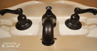 Bronze Faucets For Bathroom by How To Paint A Faucet Sincerely Sara D