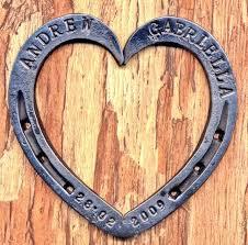personalized horseshoes 17 best horseshoe hearts images on blacksmithing