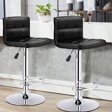 bar stools that swivel costway rakuten costway set of 2 bar stools pu leather