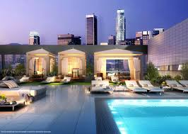 luxury pool decks gourmet kitchen los angeles apartment
