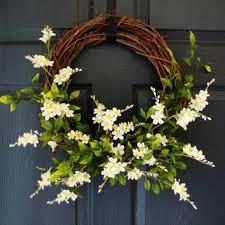 summer wreath grapevine wreath door wreath summer wreaths