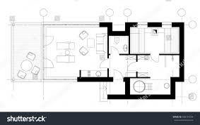 floor plan icons standard furniture symbols used architecture plans stock vector