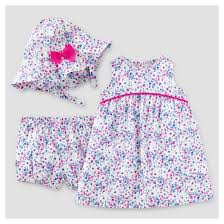 baby girls u0027 3pc dress with hat set just one you made by
