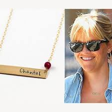 personalized bar necklace gold personalized name bar necklace creepingthyme info