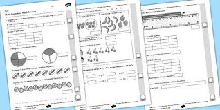 year 2 maths assessment fractions maths pinterest year 2