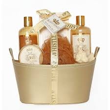 bath gift sets gifts sweet vanilla gold bath gift set