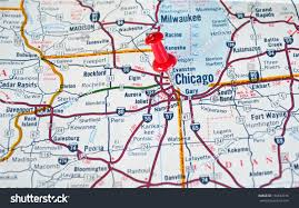 Chicago Il Map by Pin Chicago Map On