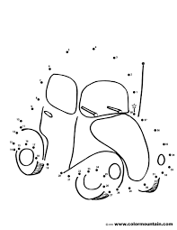 car dot to dot coloring activity create a printout or activity