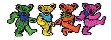 grateful dead large 4 dancing bear patch gypsy rose