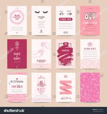 Business Card Invitation Cosmetics Shop Business Card Beauty Parlor Stock Vector 569195809