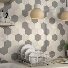 concrete tile backsplash kitchen decorating hexagon glass tile backsplash large hexagon