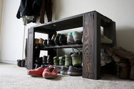 Shoerack Bench Diy Pallet Shoe Rack Bench Ndw Design Blog