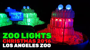 light display los angeles zoo lights full holiday display during 2016 christmas season at los