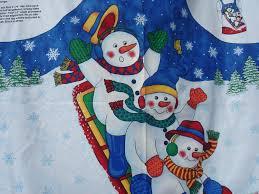 christmas apron kit fabric traditions snow buddies apron