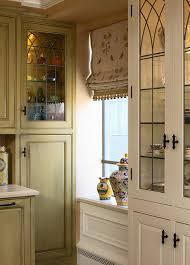 Pottery Barn Kitchen Hutch by Pottery Barn Roman Shades Kitchen Traditional With China Cabinets