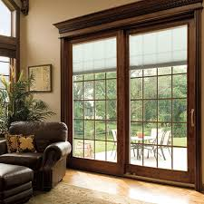 Insulated Patio Doors Designer Series Sliding Patio Doors With Built In Blinds Pella