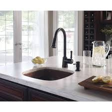 Bronze Faucets For Kitchen by Moen Lindley Single Handle Pull Down Sprayer Kitchen Faucet With