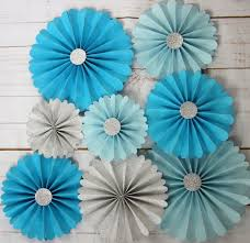 wedding paper fans aliexpress buy summer wedding paper rosettes kit custom