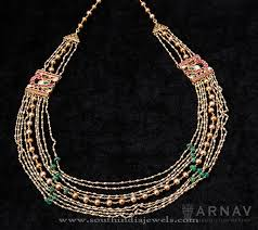 indian beads necklace images Indian gold necklace with beads south india jewels jpg