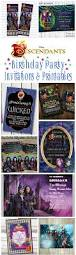 wrap party invitations disney descendants birthday party invitations and printables omg
