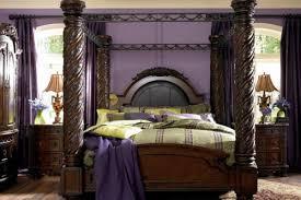 Ashley Shay King Poster Bedroom Set In Black Finish Creditrestoreus - North shore poster bedroom set price