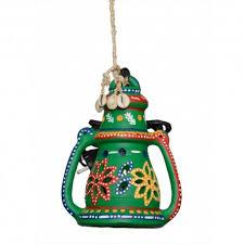 terracotta painted lantern
