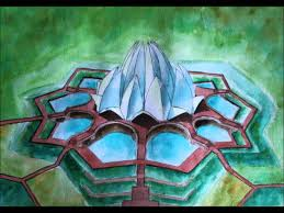drawing lotus temple youtube