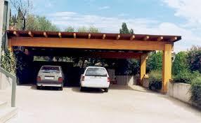 tettoia auto legno tettoia 3 posti auto in legno lamellare misura 10 x 6 m a falda